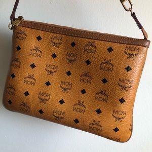 Authentic Mcm Visettos zip pouch.